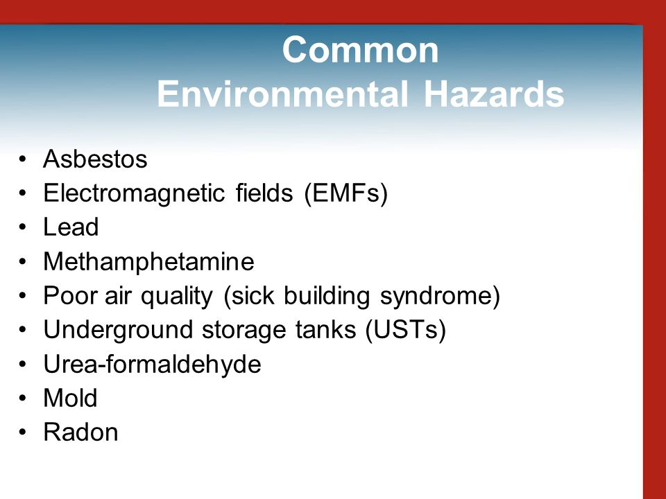 Common Environmental Hazards