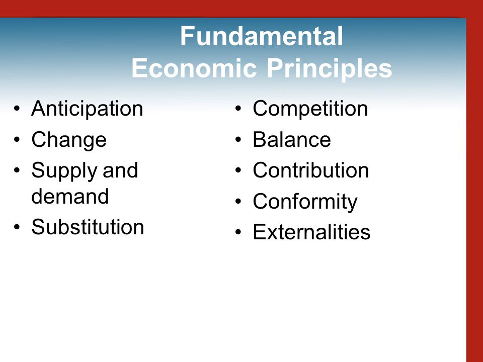 Fundamental Economic Principles