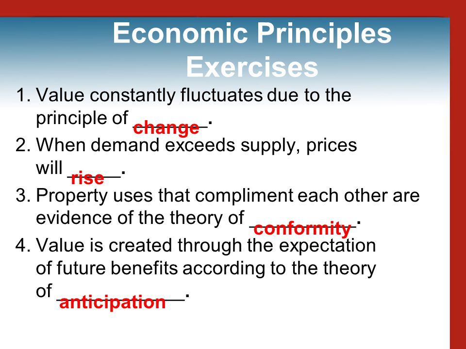 Economic Principles Exercises