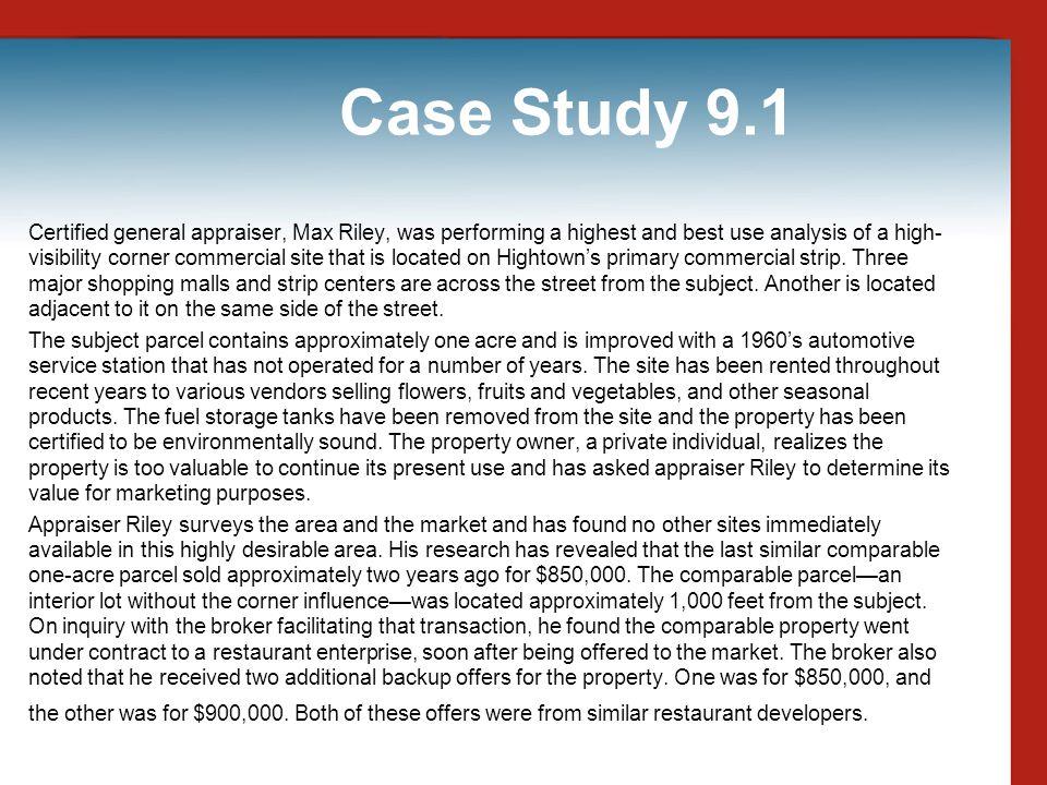 Case Study 9.1