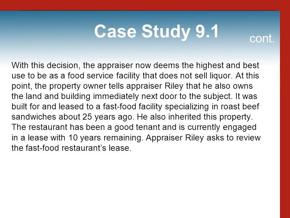 Case Study 9.1 cont.