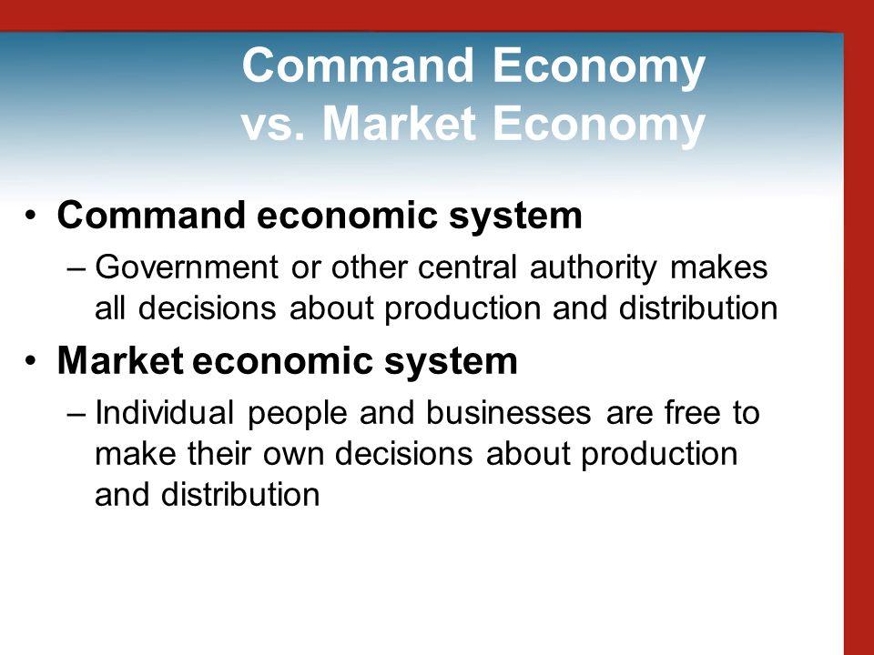 Command Economy vs. Market Economy