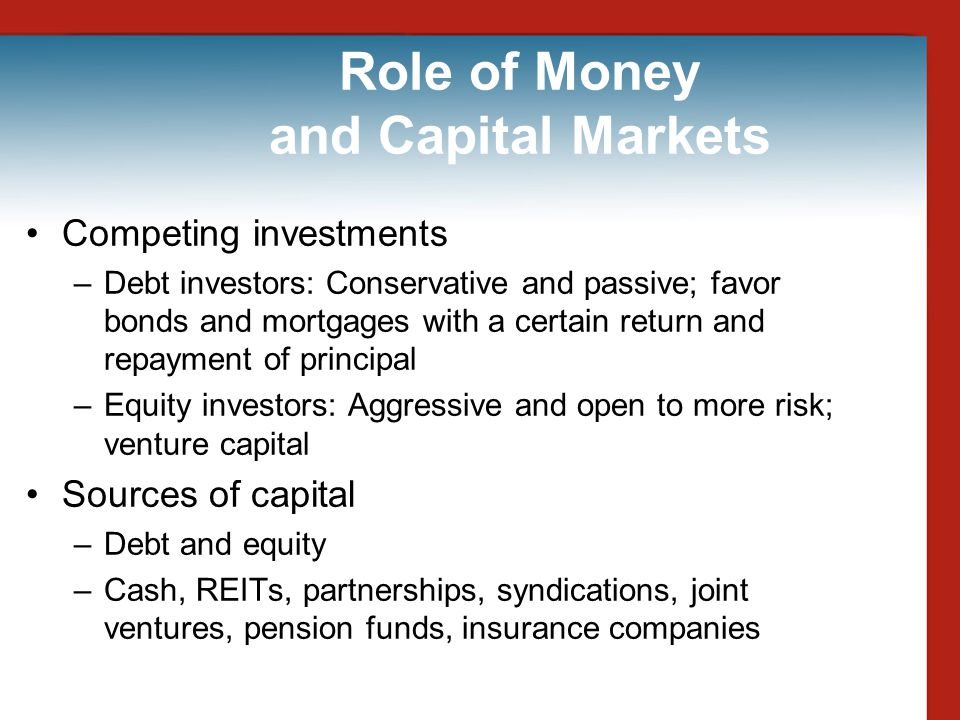 Role of Money and Capital Markets