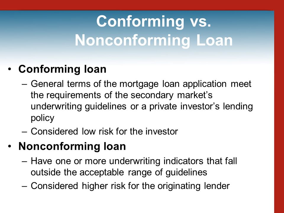 Conforming vs. Nonconforming Loan