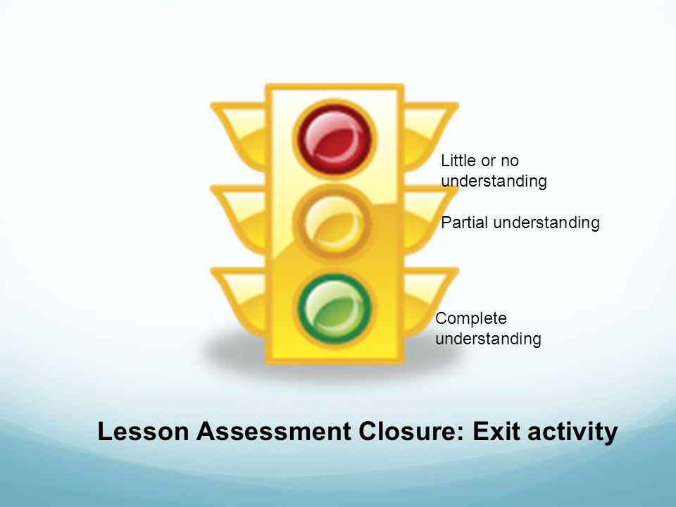 Lesson Assessment Closure: Exit activity