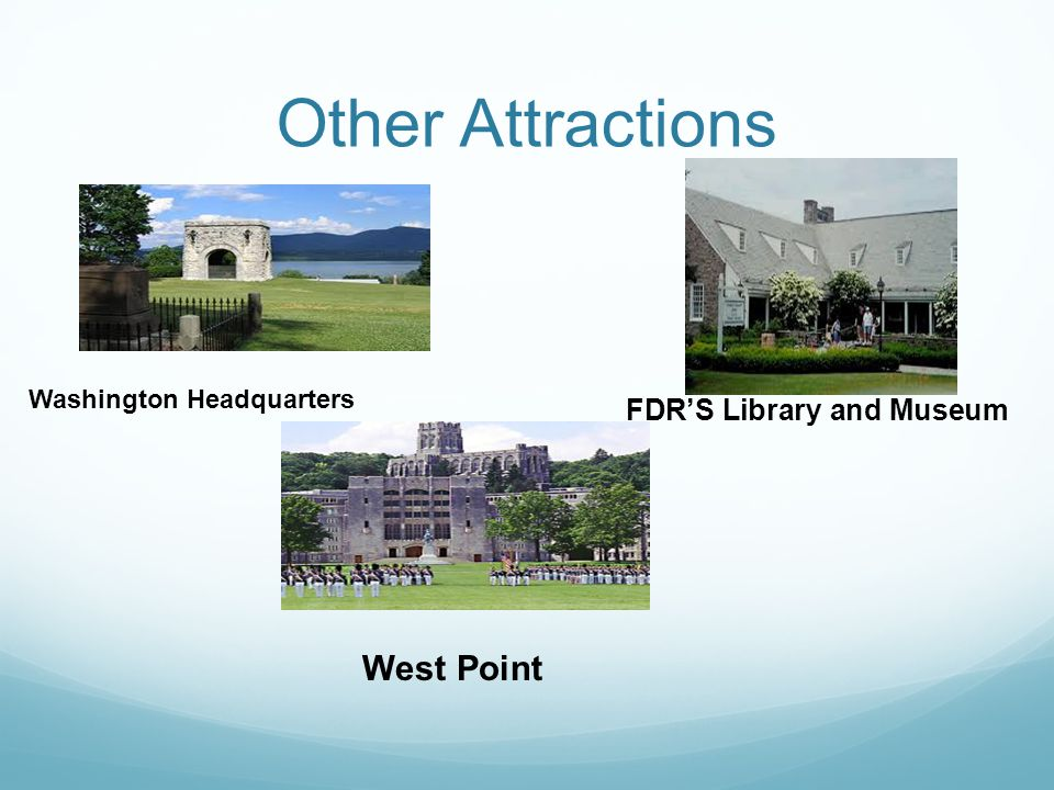 Other Attractions West Point FDR'S Library and Museum