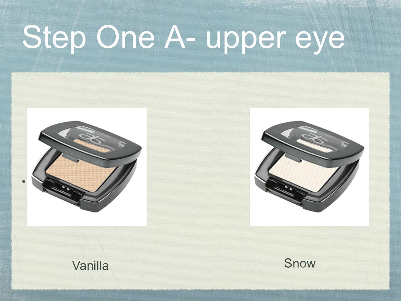 Step One A- upper eye VCA Snow Vanilla