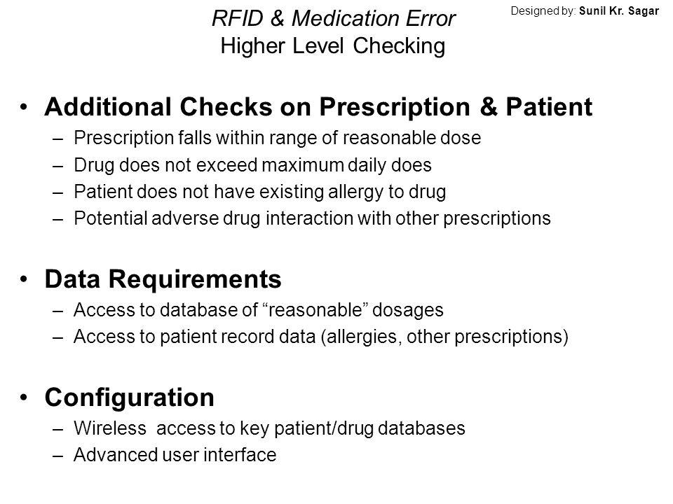 RFID & Medication Error Higher Level Checking