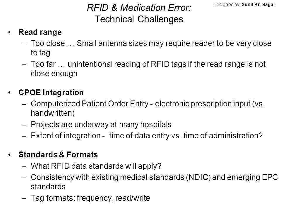 RFID & Medication Error: Technical Challenges