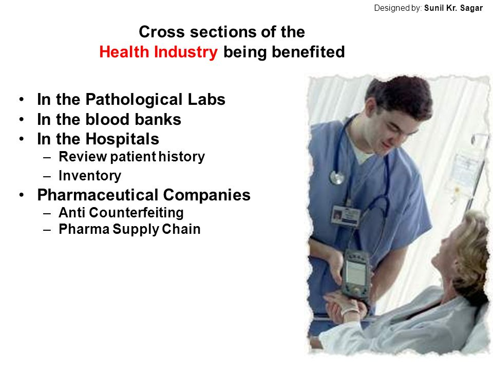 Cross sections of the Health Industry being benefited