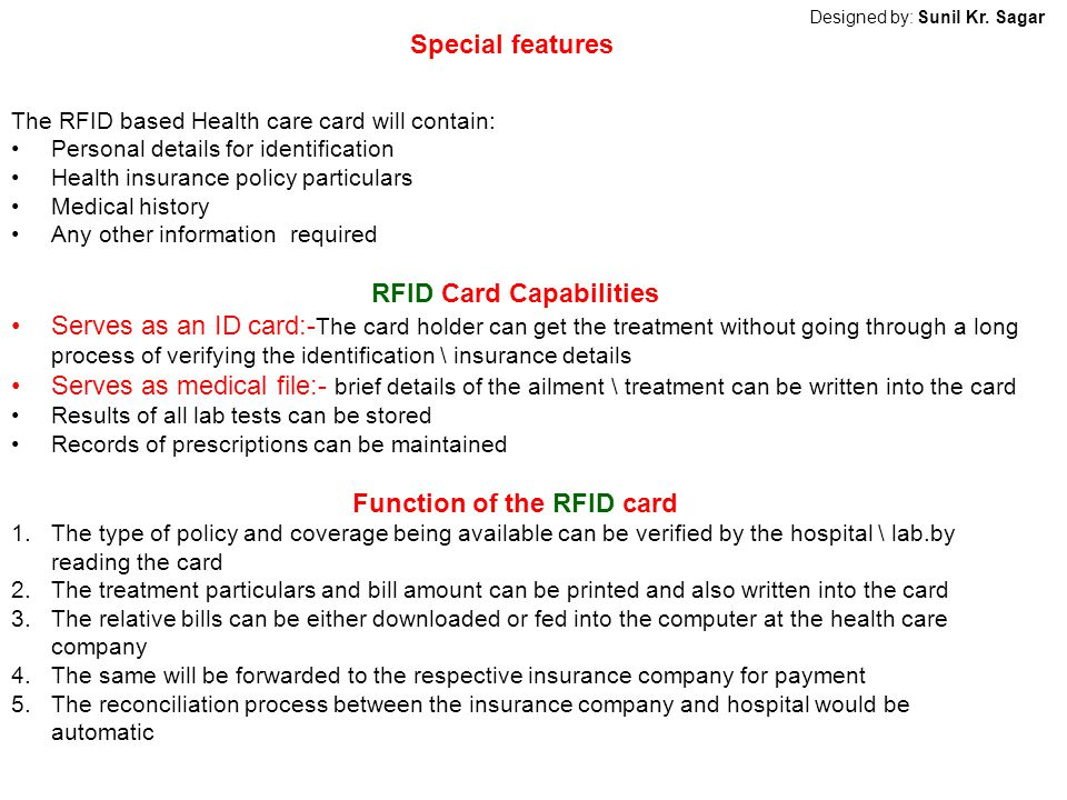 RFID Card Capabilities