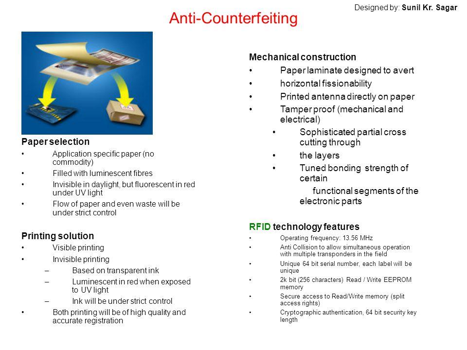 Anti-Counterfeiting Mechanical construction