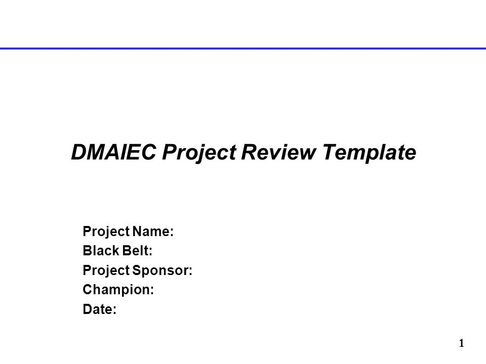 DMAIEC Project Review Template