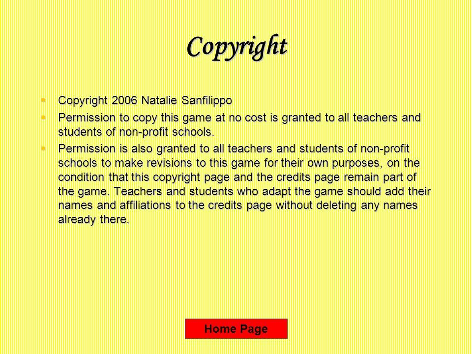 Copyright Copyright 2006 Natalie Sanfilippo