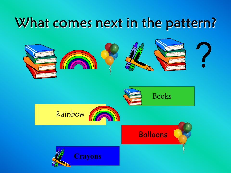 What comes next in the pattern