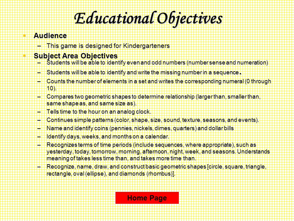 Educational Objectives