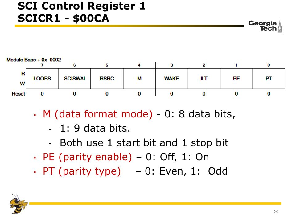 SCI Control Register 1 SCICR1 - $00CA