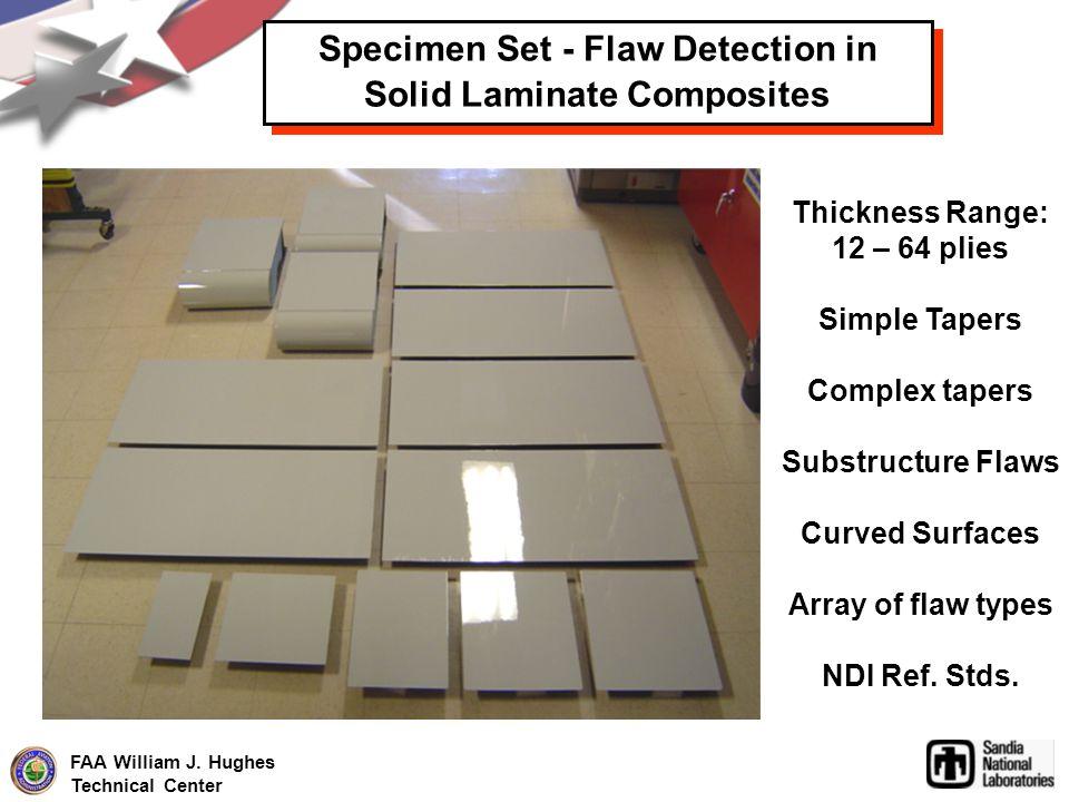 Specimen Set - Flaw Detection in Solid Laminate Composites