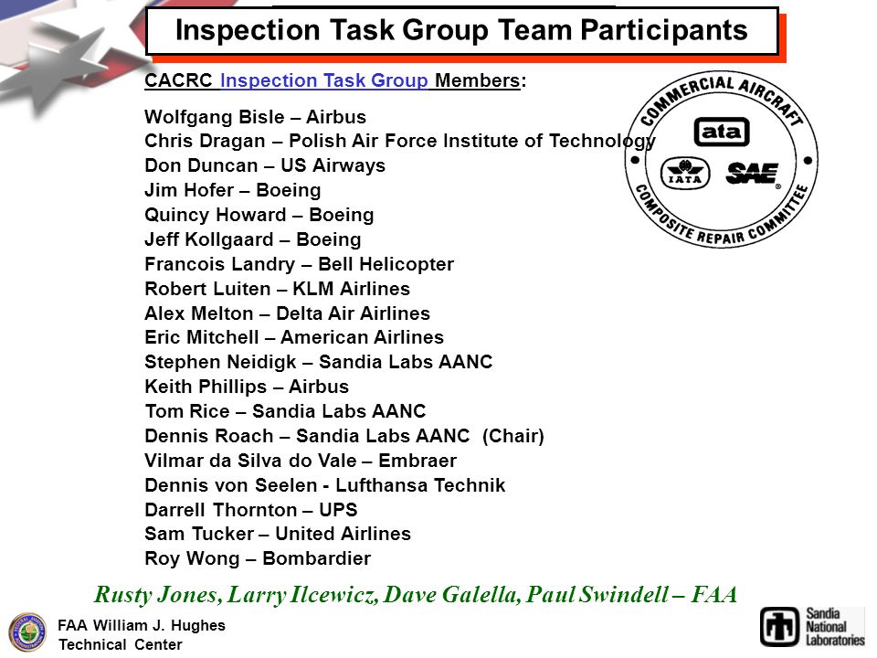Inspection Task Group Team Participants ITG Team Participants