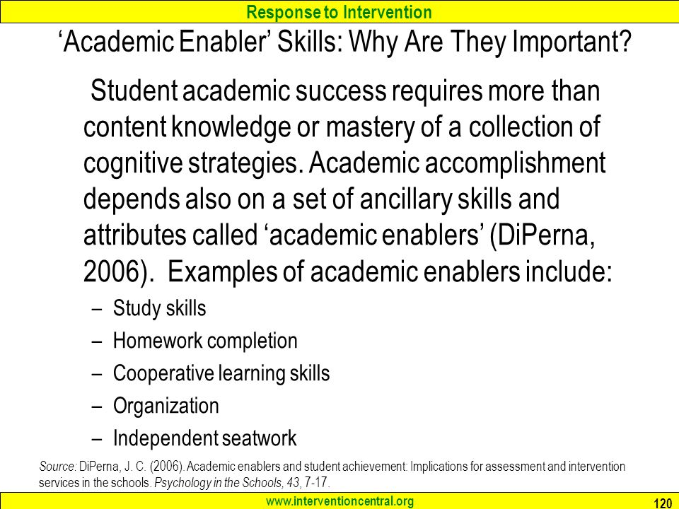 'Academic Enabler' Skills: Why Are They Important
