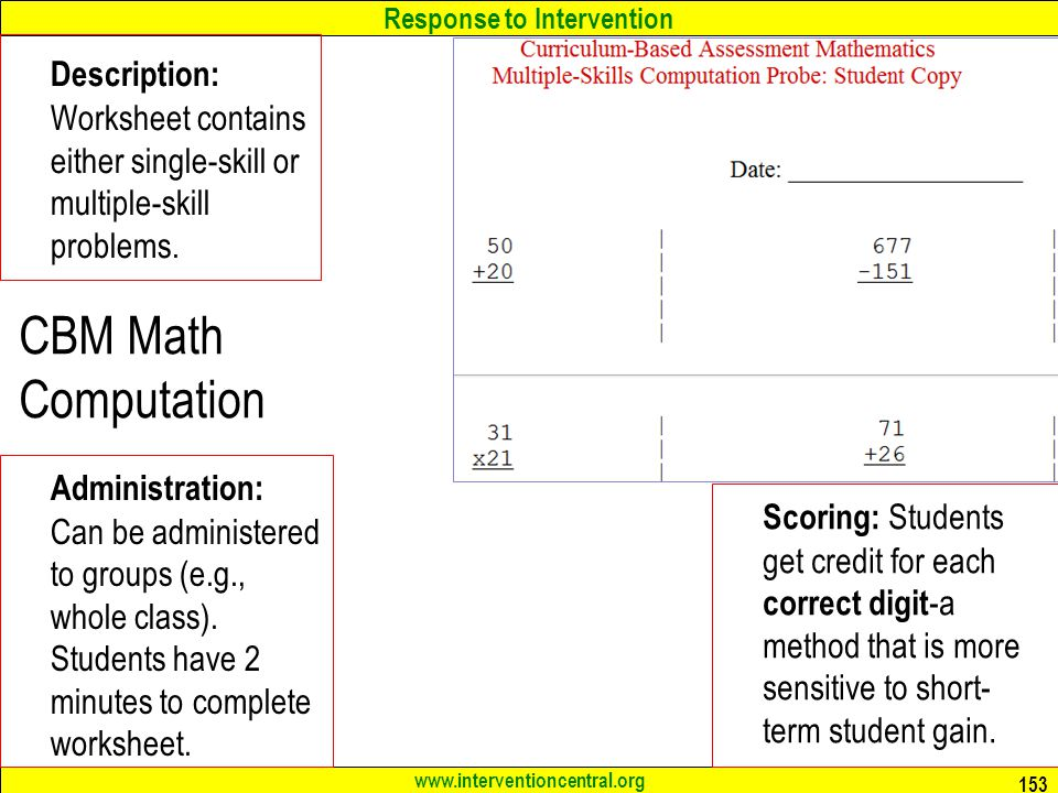 Description: Worksheet contains either single-skill or multiple-skill problems.