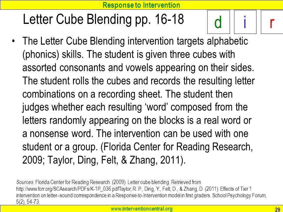 Letter Cube Blending pp. 16-18