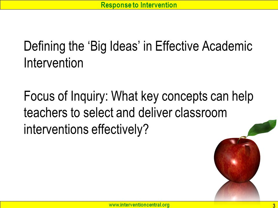 RTI at the Elementary Level: Tools for Teachers Jim Wright www ...