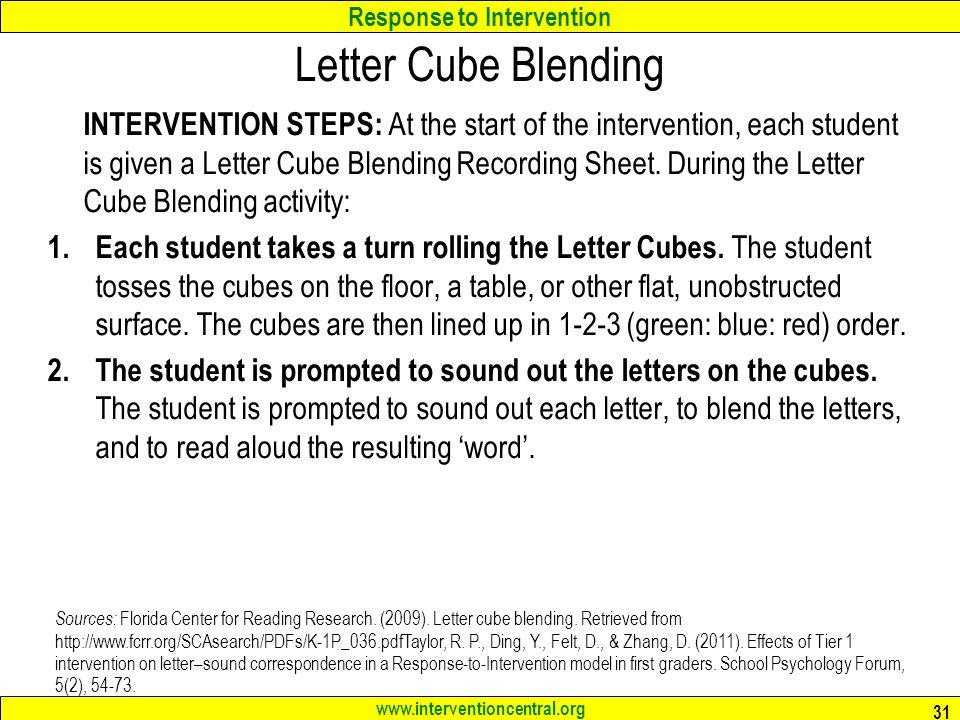 Letter Cube Blending