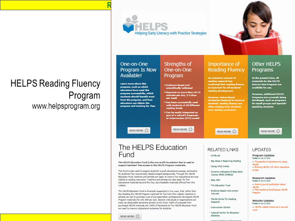 HELPS Reading Fluency Program