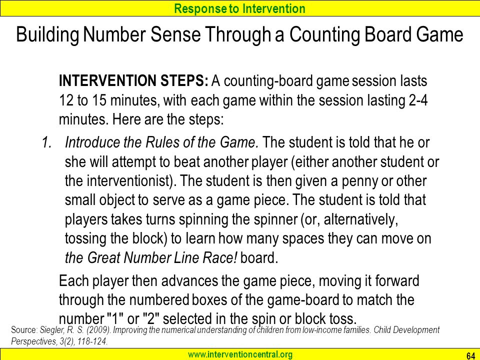 Building Number Sense Through a Counting Board Game