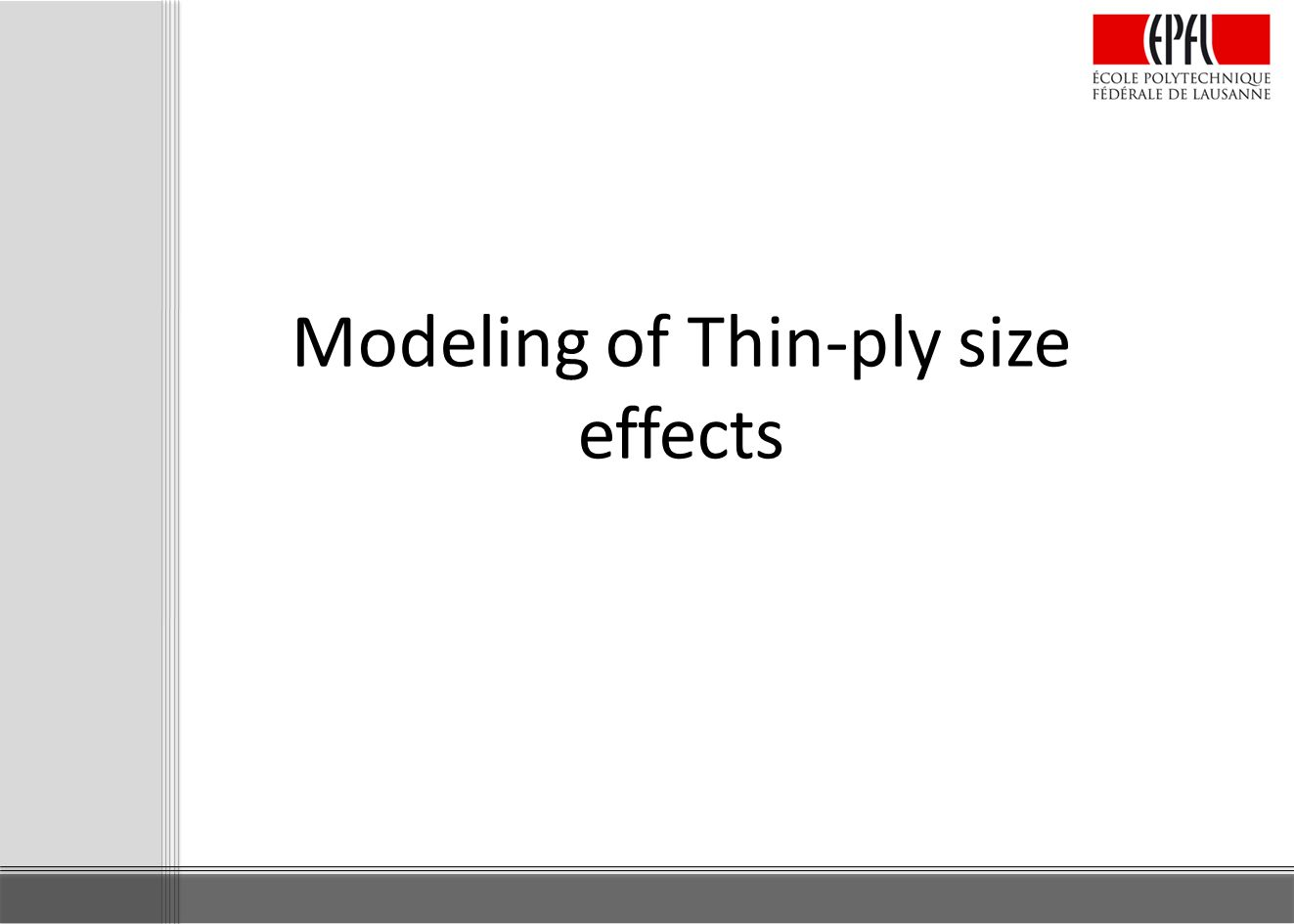 Modeling of Thin-ply size effects