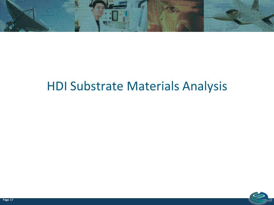 HDI Substrate Materials Analysis