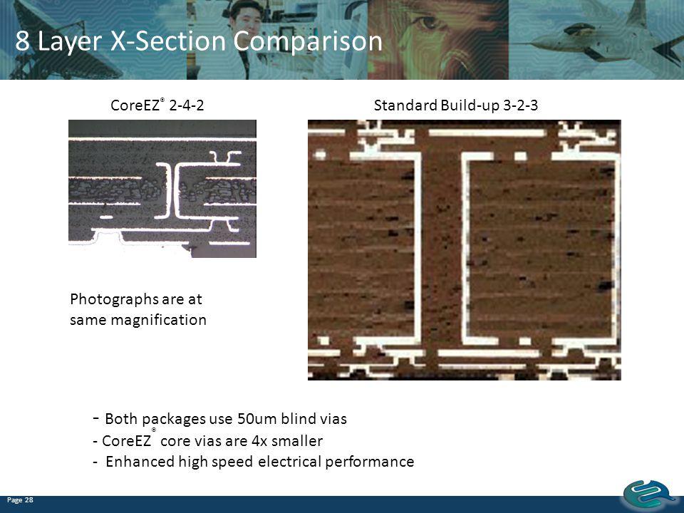 8 Layer X-Section Comparison