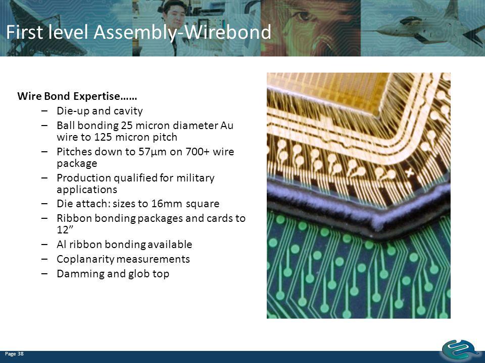 First level Assembly-Wirebond