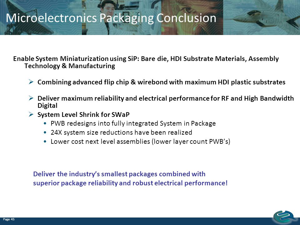 Microelectronics Packaging Conclusion