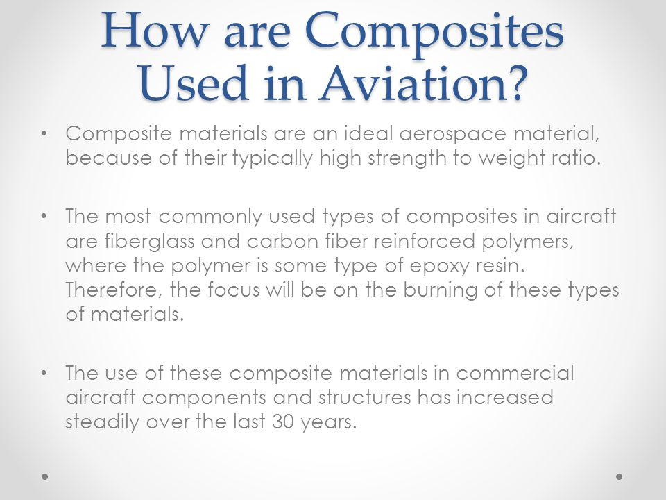 How are Composites Used in Aviation