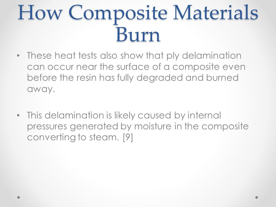 How Composite Materials Burn