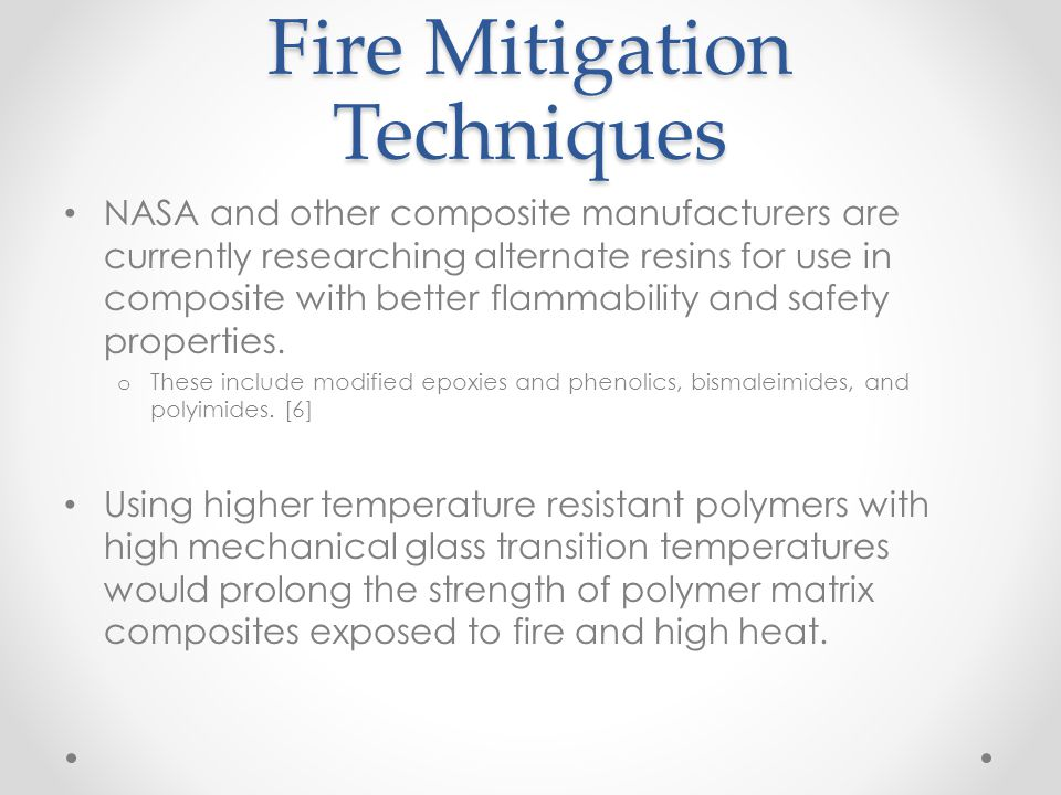 Fire Mitigation Techniques