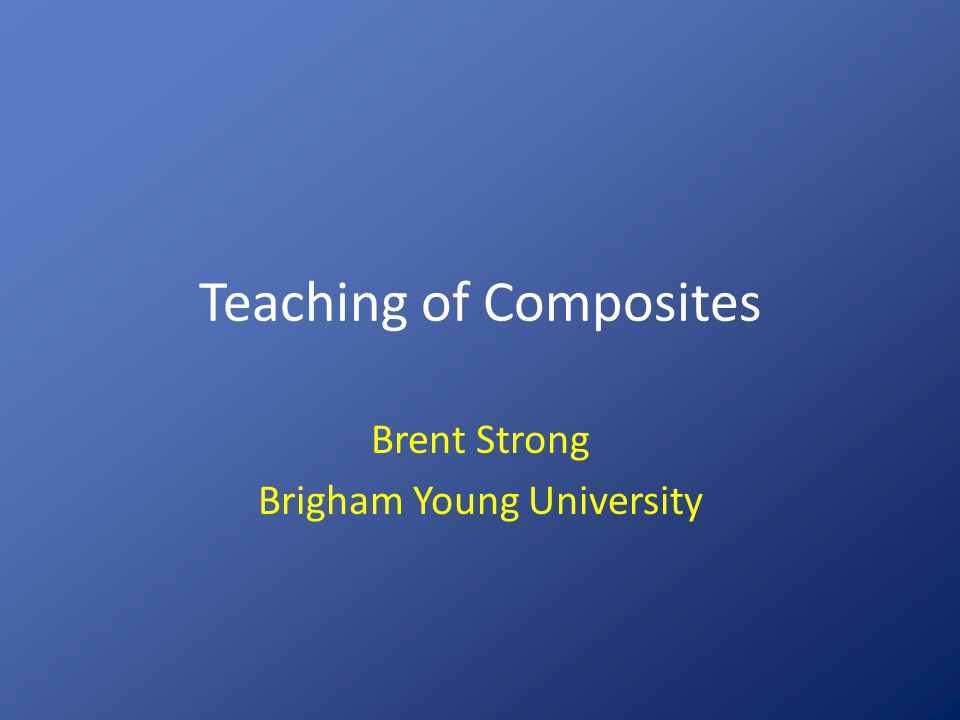 Teaching of Composites