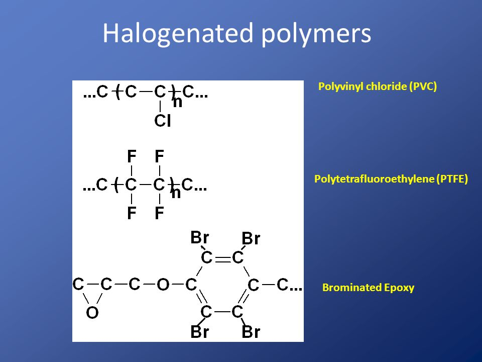 Halogenated polymers Polyvinyl chloride (PVC)