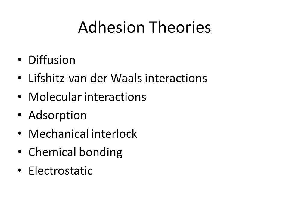 Adhesion Theories Diffusion Lifshitz-van der Waals interactions