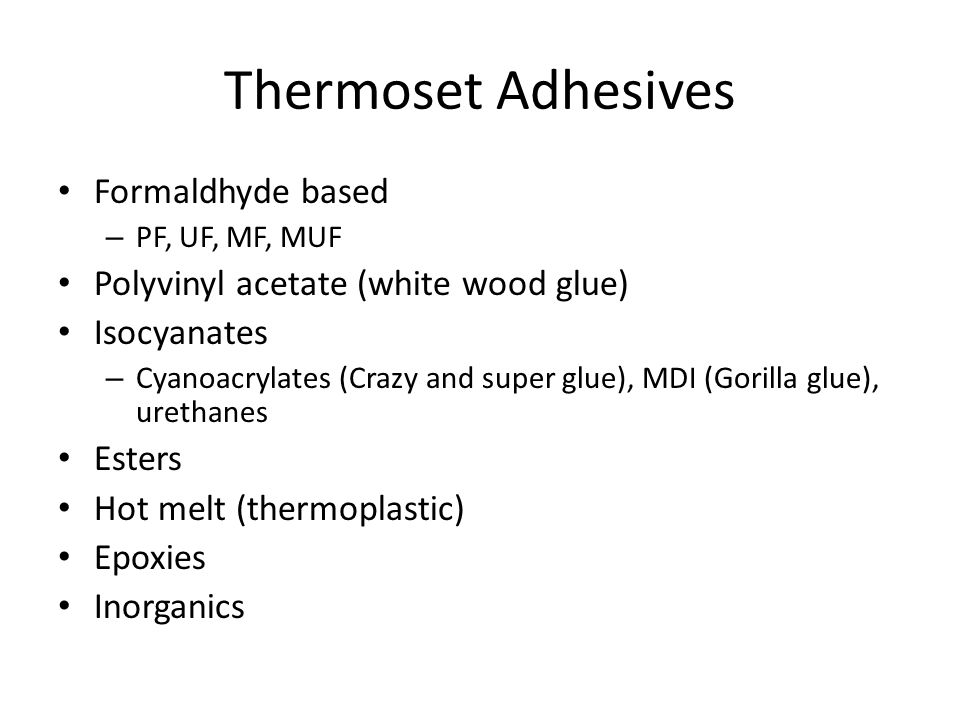 Thermoset Adhesives Formaldhyde based