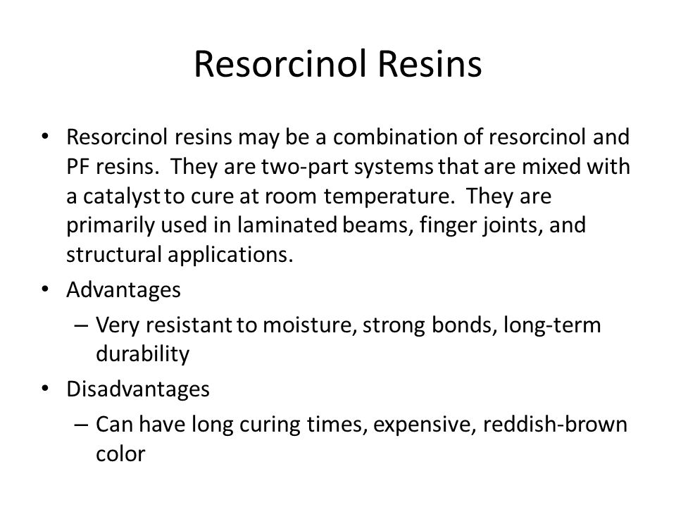 Resorcinol Resins