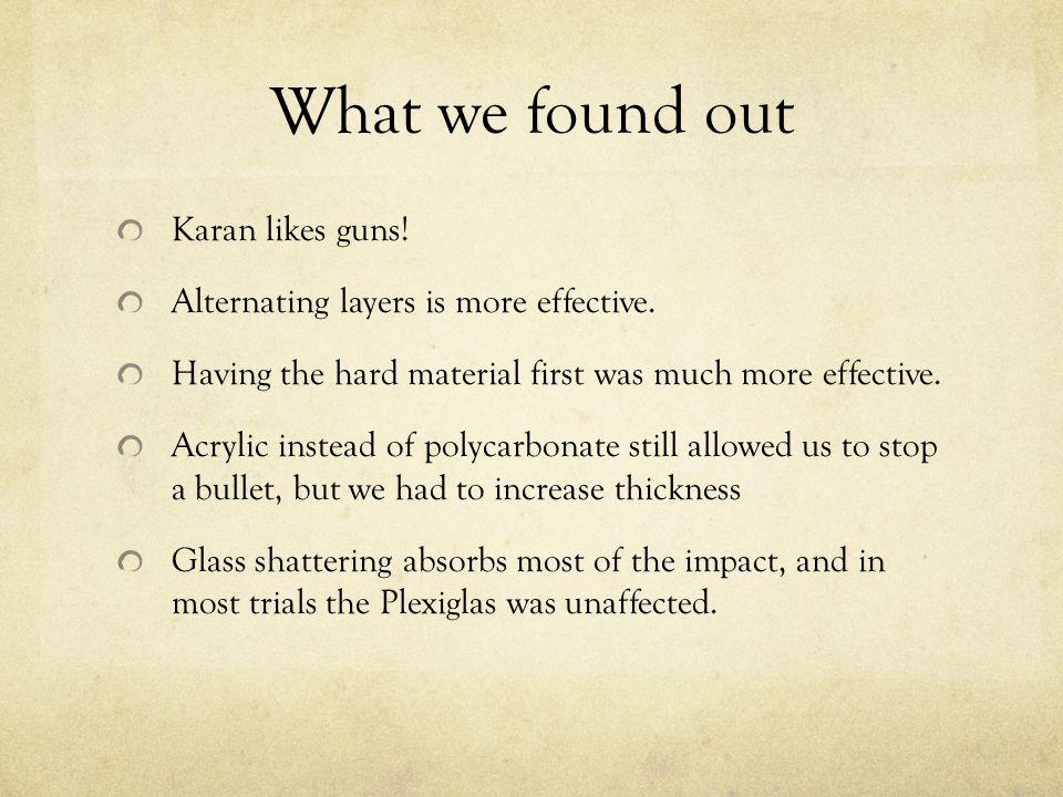 What we found out Karan likes guns!