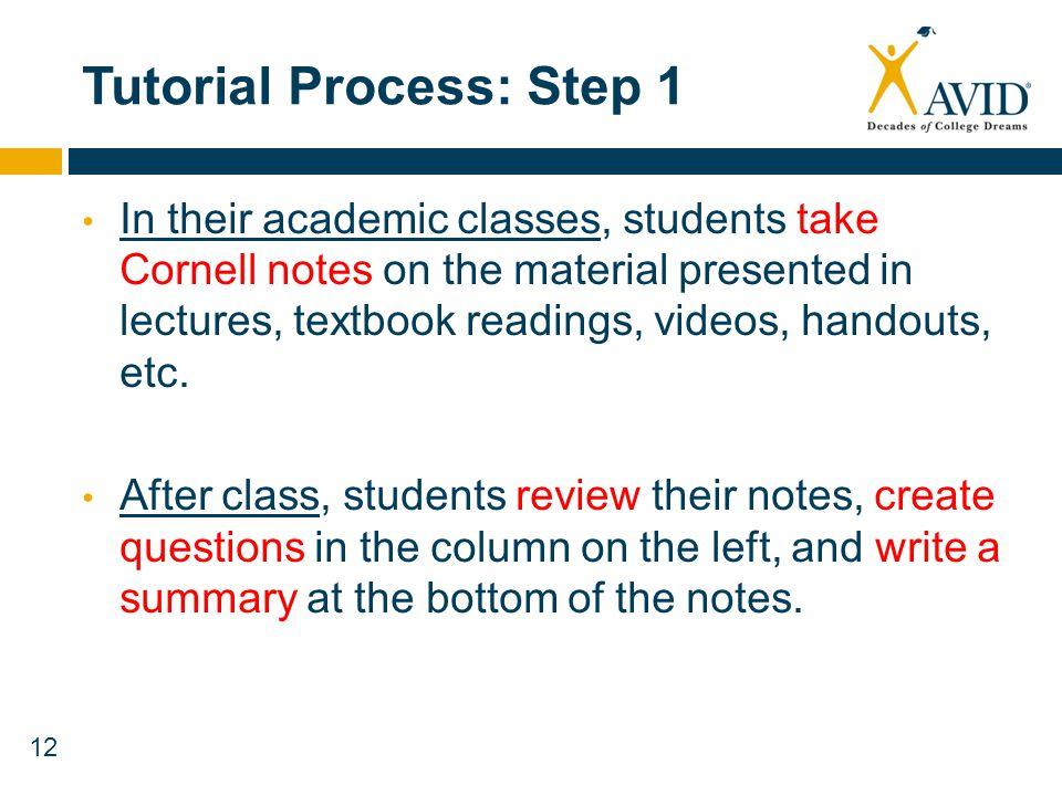 Tutorial Process: Step 1