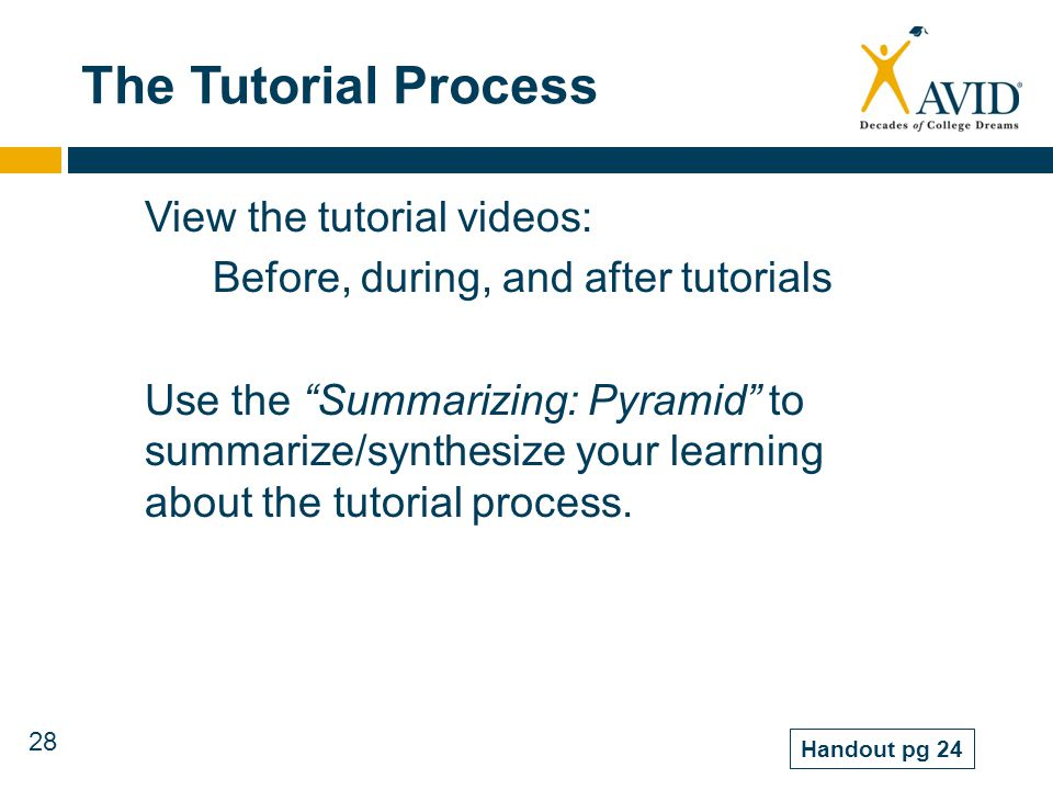 The Tutorial Process