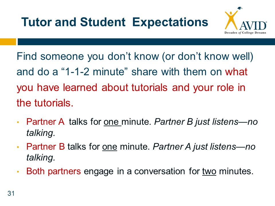 Tutor and Student Expectations