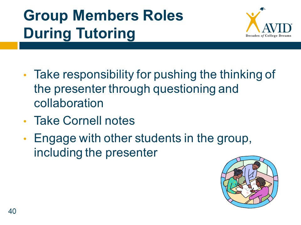 Group Members Roles During Tutoring
