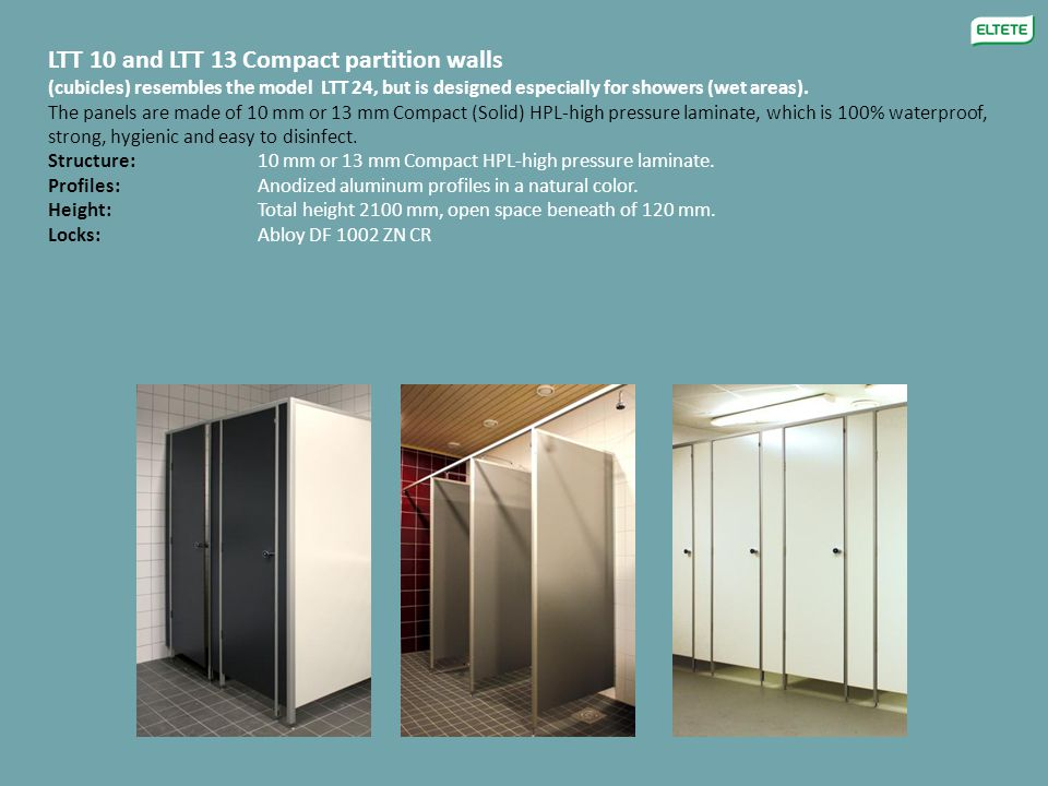 LTT 10 and LTT 13 Compact partition walls