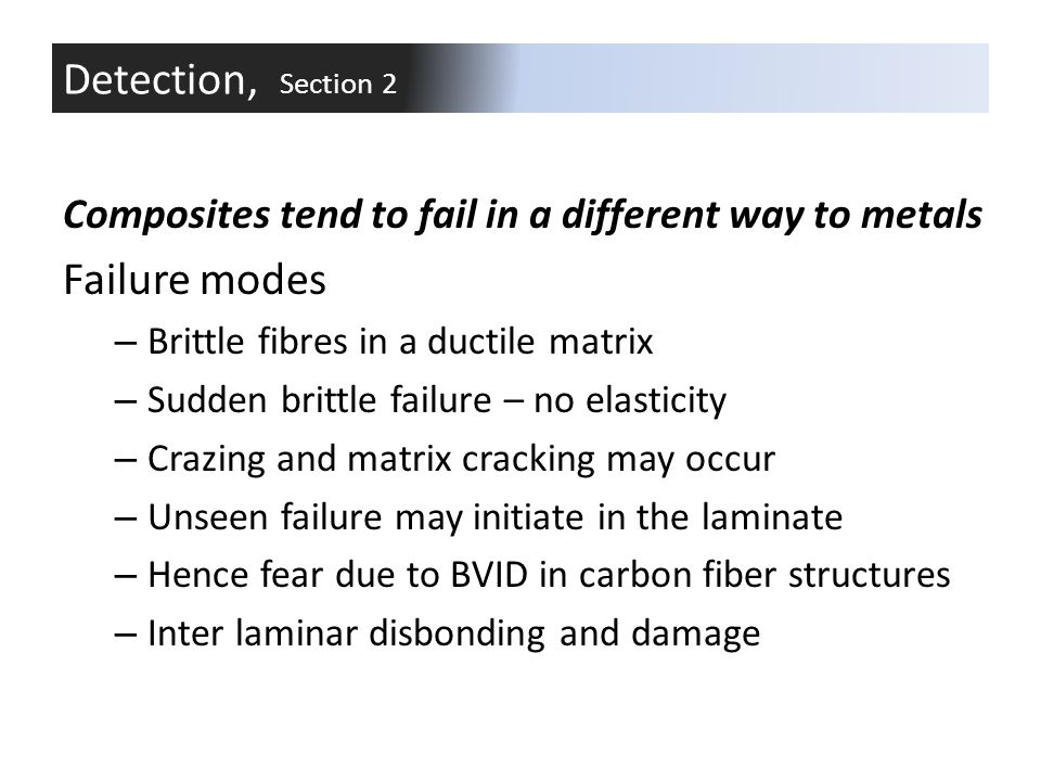Detection, Section 2 Failure modes